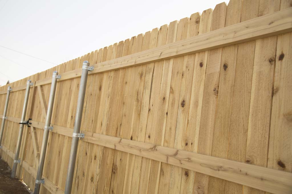 Fence installation by Noble Fence