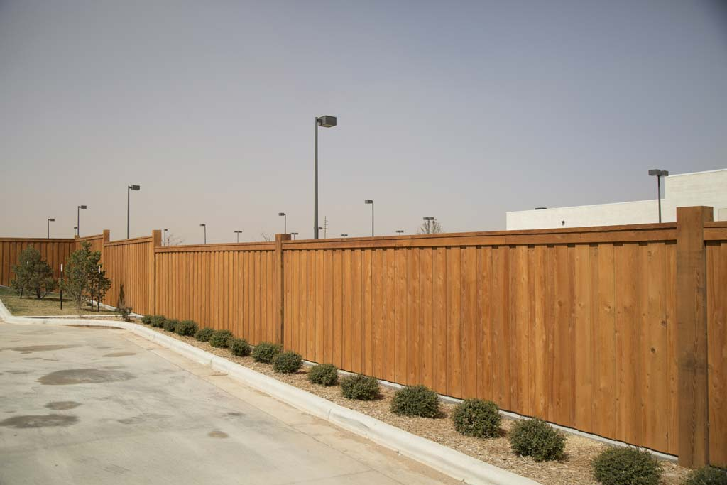 Lone Star State Bank's fence in Lubbock, TX