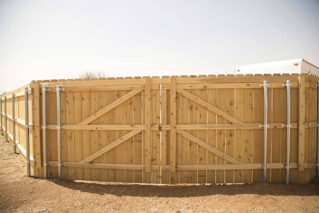 Double drive gate for RV entrance
